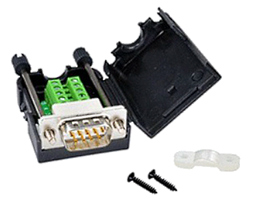 A02 Adapter DB9 Male with Screw To 9 Pin Terminal Block