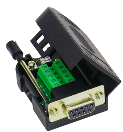 A04 Adapter DB9 Female with Screw To 9 Pin Terminal Block