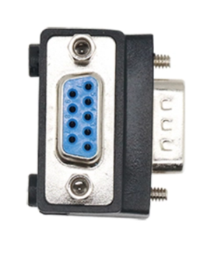 A06 Adapter DB9 Female to DB9 Male Right Angle