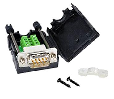 A02 Adapter RS232 na DB9 męski ze śrubą